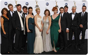mad men, il cast completo agli Emmy Awards 2008