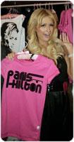Paris Hilton Clothing line con le scrittone cool anni settanta