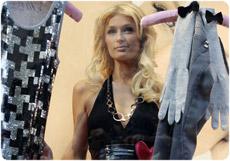 Paris Hilton Clothing line in vetrina alla Coin di Milano